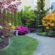 Stock Photo: Frontyard Landscaping with Paver Walkway