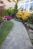 Garden Brick Paver Path — Stock Photo