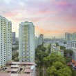 Royalty-Free Stock Photo: Sunset Over Singapore Housing Estate