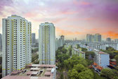 Sunset Over Singapore Housing Estate — Stock Photo