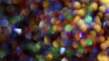 カラフルなダンス クリスタル ライト抽象的な背景が 1080 p を移動 — ストックビデオ