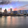 Portland Oregon Skyline at Sunset — Stock Photo #25115625