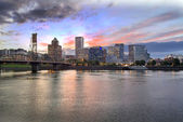 Portland Oregon Skyline at Sunset — Stock Photo