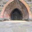 Historic Iron Furnace Gate - Stock Photo