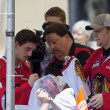 Portland Winterhawks Ice Hockey Players Signing Autographs — Stock Photo #25324335