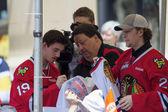 Portland Winterhawks Ice Hockey Players Signing Autographs — ストック写真