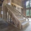 Wood Framing for House Staircase — Stock Photo
