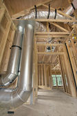 Duct Work for Home Heating Cooling System — Stockfoto