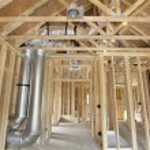 Nowa konstrukcja domu w ramce z drewna stadniny — Zdjęcie stockowe