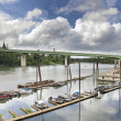 Stock Photo: Boat Moorage Along Willamette River