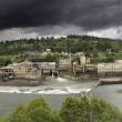 Power Plant at Willamette Falls Lock — Stock Photo