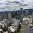 Stock Photo: Portland Oregon Cityscape Aerial View