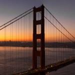 Sunrise Over San Francisco Golden Gate Bridge — Stock Photo