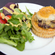 Stock Photo: Chicken Pot Pie with Salad