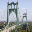 St Johns Bridge for Vehicles Over Willamette River — Stock Photo
