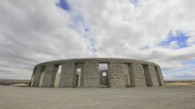 Maryhill Concrete Stonehenge Landmark in Klickitat County Washington 1920x1080 — Stock Video