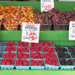 Fruits and vegetables Stall Berries Display — Stock Photo