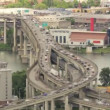 Marquam Bridge across Willamette River in Portland Oregon Traffic Timelapse 1920x1080 — Stock Video