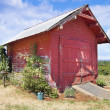 Stock Photo: Old Tool Shed Red Barn