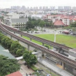 Singapore MRT Subway and Fast Moving Vehicles in Eunos Housing Estate 1080p — Wideo stockowe #28371499