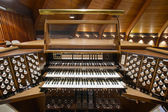 Church Pipe Organ Keyboards — Stock Photo