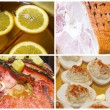 Christmas Ham Dinner Collage — Stock Photo