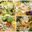 Southeast Asian Singapore Noodles Dishes Collage — Stock Photo #28909031