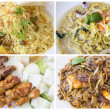 Southeast Asian Singapore Local Food Collage — Stock Photo