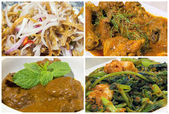 Nyonya Peranakan Food Collage — Stock Photo