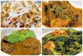 Nyonya Peranakan Food Collage — Stock Photo