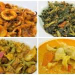 Southeast Asian Nyonya Peranakan Food Collage — Stock Photo