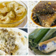 Southeast Asian Singapore Dessert and Snacks Collage — Stock Photo