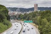 I-84 to I-5 Interstate Freeway in Portland Oregon — Stock Photo