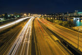 Interstate Freeway Light Trails Through Portland Oregon — Stock Photo