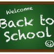 Vector de stock : Back To School Chalkboard Illustration