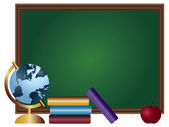 Okul sınıf kara tahta illüstrasyon — Stok Vektör