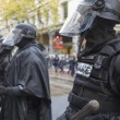 Stock Photo: Portland Police in Riot Gear During Occupy Portland 2011 Protest