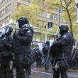 Stock Photo: Multnomah County Sheriff in Riot Gear During Occupy Portland 201