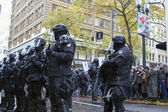 Multnomah County Sheriff in Riot Gear During Occupy Portland 201 — Stock Photo