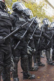 Portland Police in Riot Gear During Occupy Portland 2011 Protest — Stock Photo