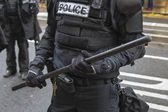 Portland Police in Riot Gear Closeup During Occupy Portland 2011 — Stock Photo