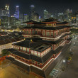 Stock Photo: Chinese Temple in Singapore Chinatown at Night