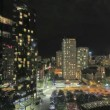 Vancouver BC Canada Downtown City and Traffic Light Trails Timelapse 1080p — Stock Video