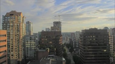 Vancouver BC Canada Downtown City with Construction and Traffic Timelapse 1080p — Stock video