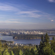 Vancouver BC Cityscape and Stanley Park — Stock Photo