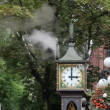 Steam Clock Chiming Music in Gastown Vancouver BC Canada — Stock Video