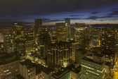 Vancouver BC City Downtown at Dusk — Stock Photo