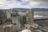 Vancouver BC City with Stanley Park View — Stock Photo
