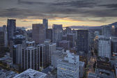 Sunset Over Vancouver BC City — Stock Photo