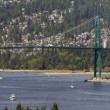 Lions Gate Bridge Vancouver BC — Stock Photo